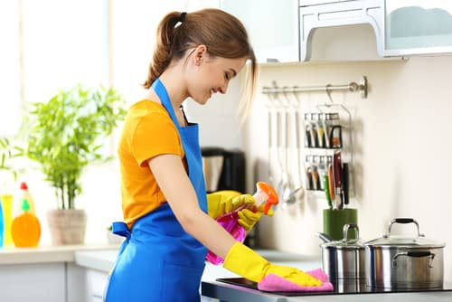 What is the proper way to clean a kitchen